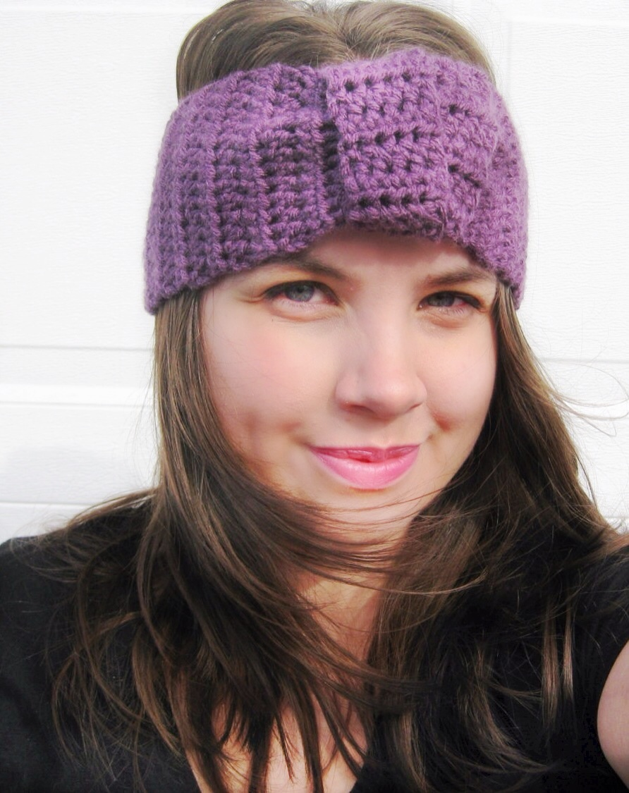 Turban Headband Knotted in Mulberry Purple
